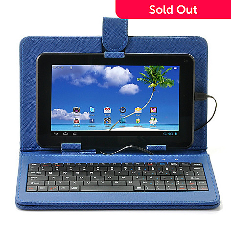 438-548 - Proscan LED Android™ 4.1 Wi-Fi Multi-Touch Tablet w/ Keyboard Folio Case