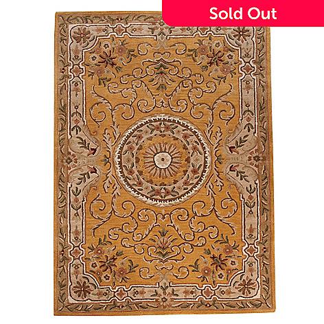 438-552 - Bashian Rugs Savonnerie Medallion Hand-Tufted 100% Wool Rug