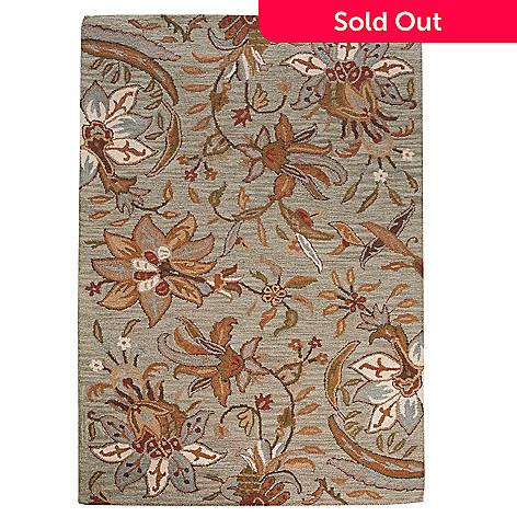 438-554 - Bashian Rugs Botanic Floral Hand-Tufted 100% Wool Rug