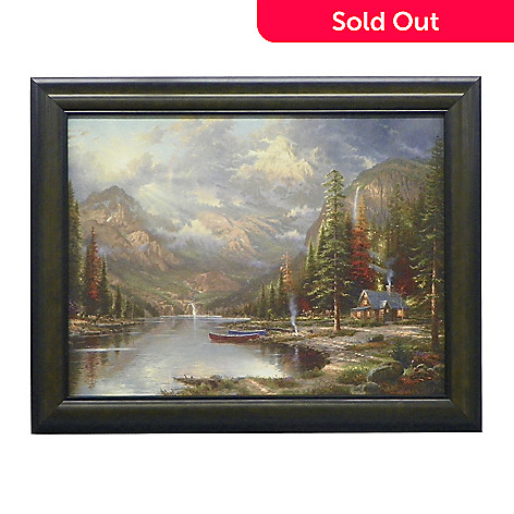438-615 -  Thomas Kinkade ''Mountain Majesty'' Framed Textured Print