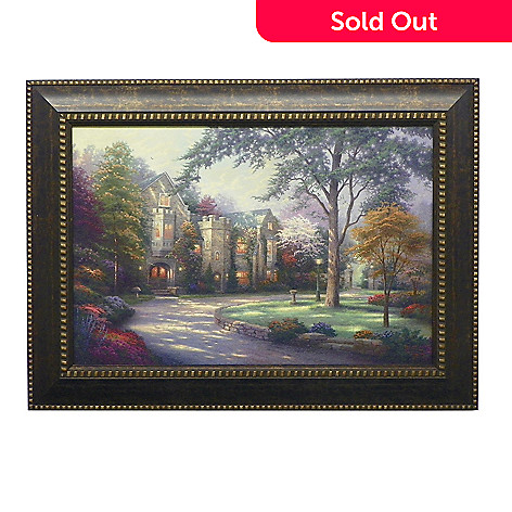 438-616 - Thomas Kinkade ''Beyond Summer Gate'' Framed Textured Print