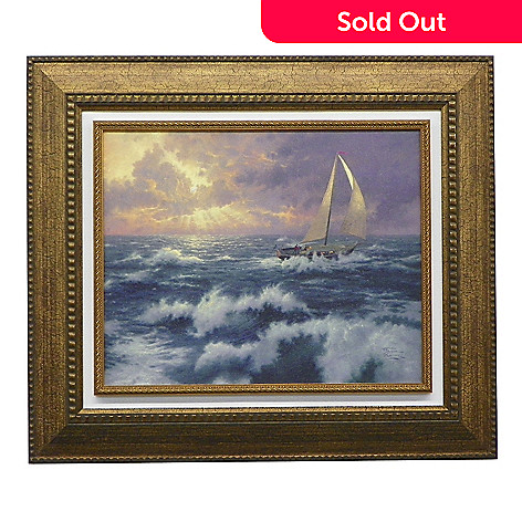 438-618 - Thomas Kinkade ''Perseverance'' Floating Framed Textured Print