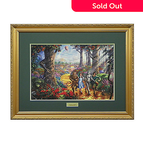 438-620 - Thomas Kinkade ''Follow the Yellow Brick Road'' Limited Edition Framed Print