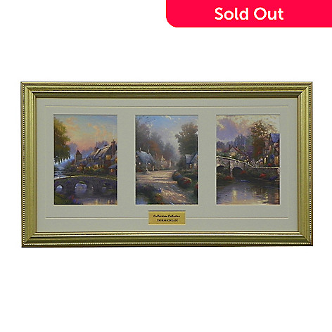 438-621 - Thomas Kinkade Portfolio Collection ''Cobblestone'' Framed Print
