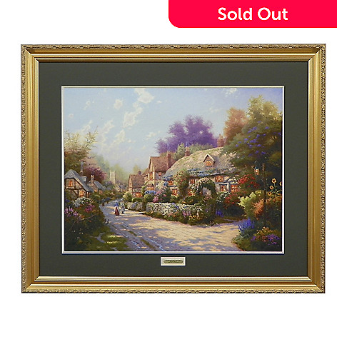 438-622 - Thomas Kinkade ''Cobblestone Village'' Limited Edition Framed Print