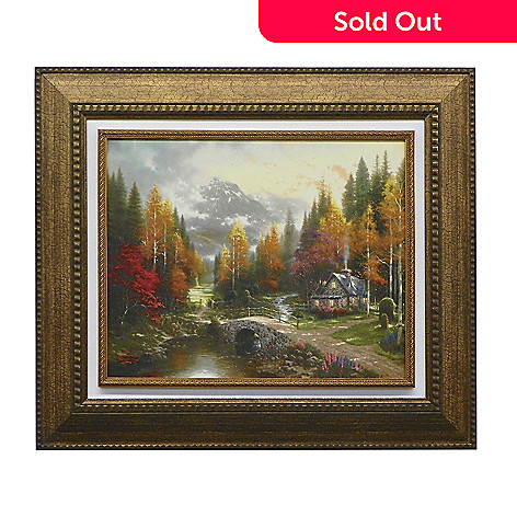 438-623 - Thomas Kinkade ''Valley of Peace'' Floating Framed Textured Print