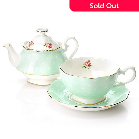 438-651 - Royal Albert® New Country Roses Three-Piece Bone China Tea Set- Signed