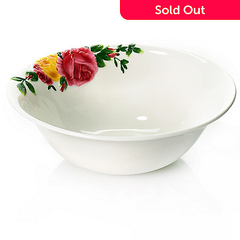 438-654 - Royal Albert Country Roses Majolica 10'' Porcelain Serving Bowl