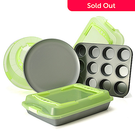 438-751 - OvenStuff® Six-Piece Non-Stick Bakeware & Lid Set