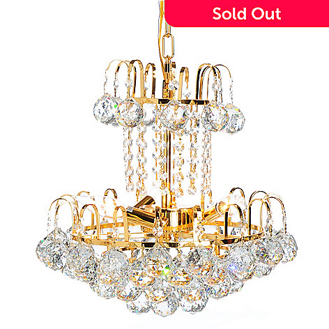 438-785 - Gallery 15'' Empire Two-Tier Three-Light Crystal Glass Chandelier