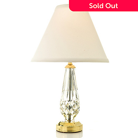 438-796 - Waterford® Crystal Lismore Table Lamp w/ Hardback Shade