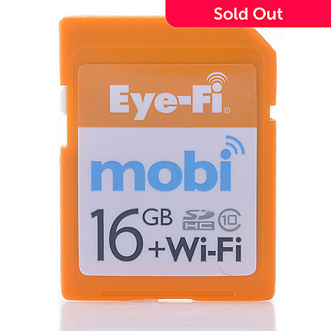 438-821 - Eye-Fi Mobi 16GB + Wi-Fi SDHC Memory Card