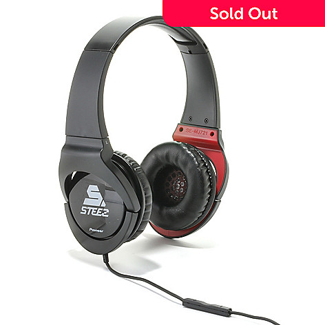 438-917 - Pioneer Steez Effects On-Ear Stereo Headphones w/ In-Line Mic & Remote Control