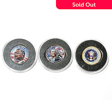 438-965 - 2001, 2003 & 2008 Obama Quarter Collection Three-Piece Coin Set
