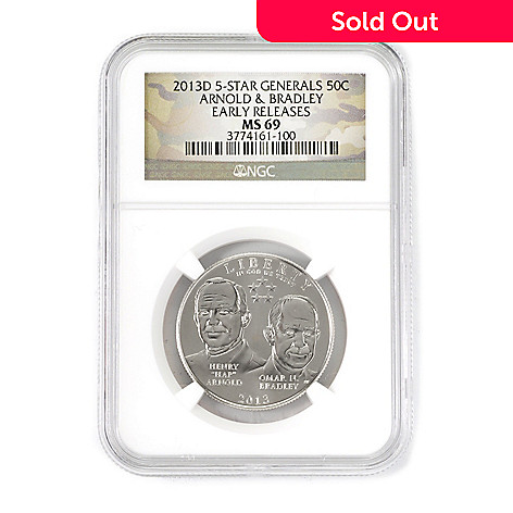 438-970 - 2013 Half Dollar Five-Star General MS69 Early Release NGC (D) Coin