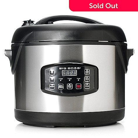 439-107 - Big Boss™ 1300W 8.5-Quart Oval Pressure Cooker