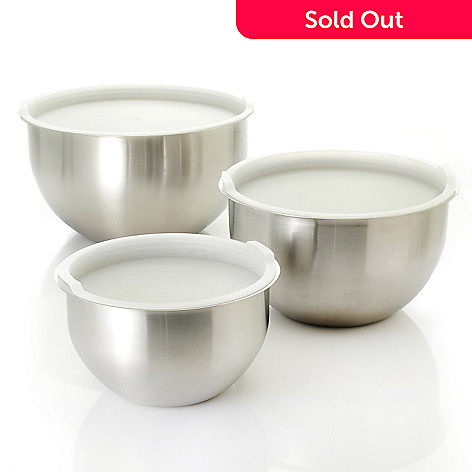 439-113 - Kevin Dundon Signature Collection Six-Piece Colored Stainless Steel Mixing Bowl Set