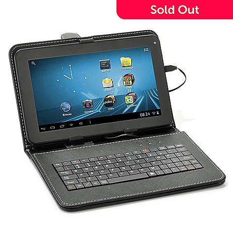 439-182 - D2 Pad™ 9'' LCD Android™ 4.1 4GB Wi-Fi Tablet w/ Keyboard Case & Pre-Loaded Content