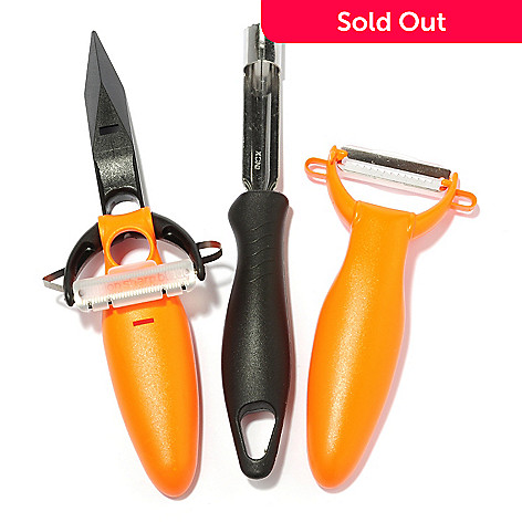 439-218 - Three-Piece Multi Purpose Garnish Peeler, Julienne Peeler & Corer Set