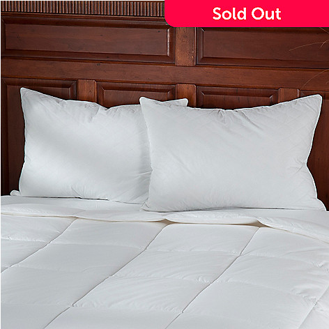 439-242 - Cozelle® 233TC Cotton Quilted Feather Pillow Pair