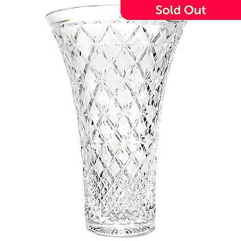 439-247 - House of Waterford Lace 14'' Crystal Vase