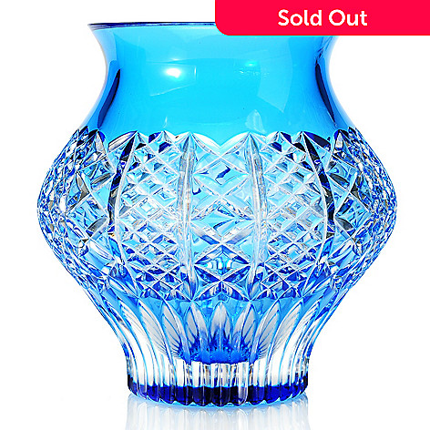 439-256 - Waterford Fleurology Liz 7'' Crystal Cachepot
