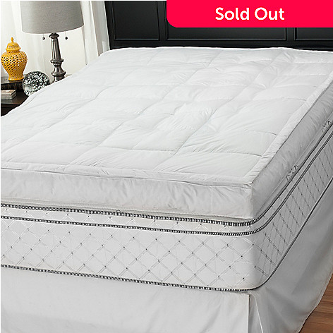 439-268 - North Shore Linens™ 5'' Gusseted 233TC Cotton Featherbed Mattress Topper