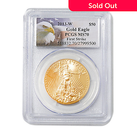 439-346 - 2013 $50 Gold Eagle MS70 First Strike PCGS (W) Coin w/ Eagle Label