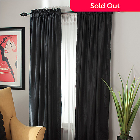 439-388 - Cozelle® Taffeta Lined & Interlined Window Panel Pair