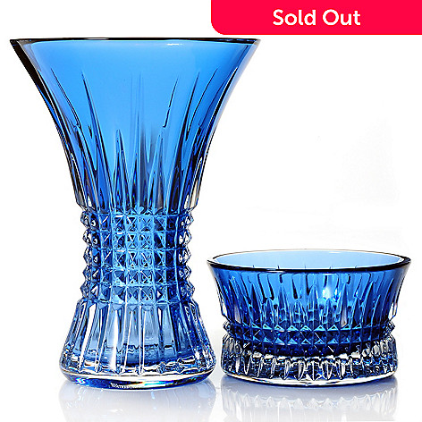 439-389 - Waterford® Crystal Lismore Diamond 8'' Vase & 4.75'' Nut Bowl