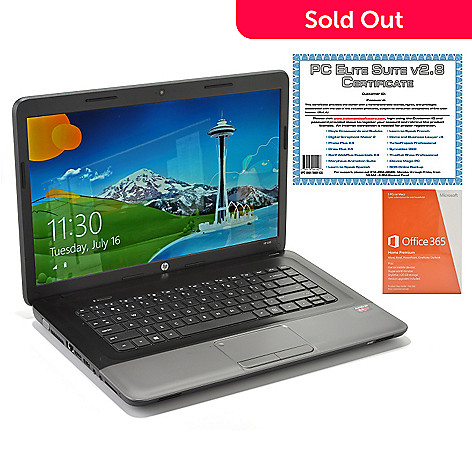 439-446 - HP 15.6'' LED AMD Quad-Core 4GB RAM/320GB HD Notebook w/ Software