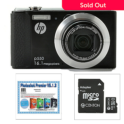 439-509 - HP 16MP Point & Shoot Digital Camera w/ Micro SDHC Card & Software