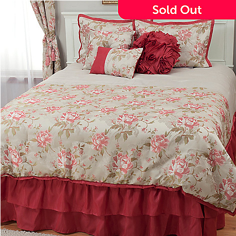439-570 - North Shore Living™ Rose Jacquard Seven-Piece Bedding Ensemble