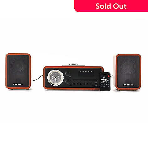 439-609 - Crosley 30W Audiophile Stereo System w/ Dock for iPod, iPhone® & iPad