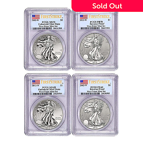 439-630 - 2013 Silver Eagle PR Reverse & MS Enhanced PCGS West Point Mint Set
