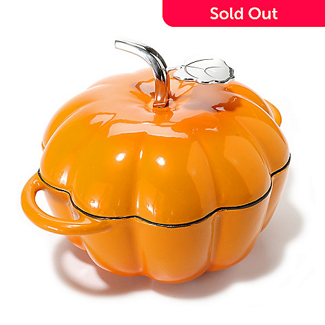 439-644 - Cook's Tradition® Enamel Finished 3 qt Cast Iron Pumpkin Pot w/ Lid