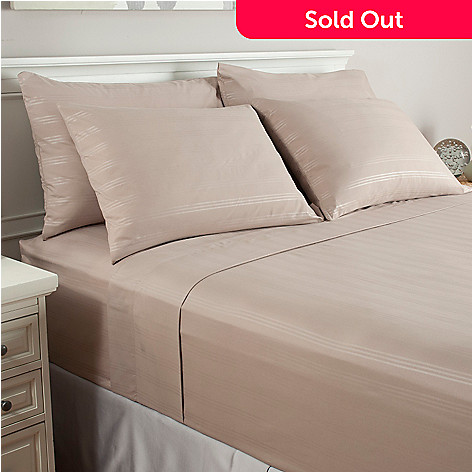 439-651 - Cozelle® Microfiber Stripe Six-Piece Sheet Set