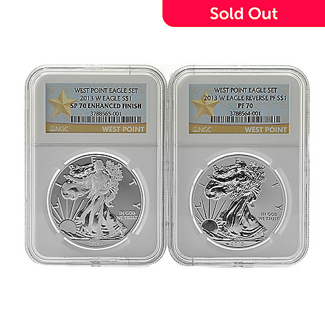 439-681 - 2013 Silver Eagle PF Reverse & SP Enhanced NGC West Point Mint Set