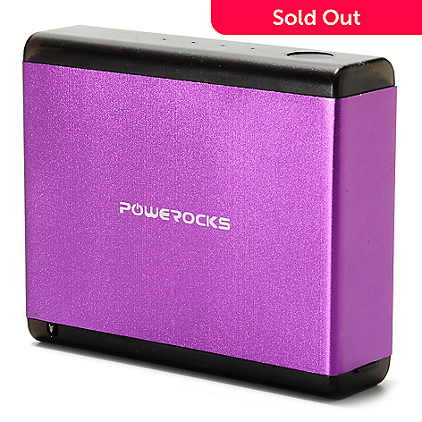 439-682 - Powerocks 7800mAh Portable Charger w/ USB Port and Built-in USB & Micro-USB Cables