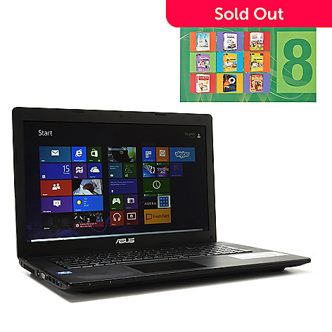 439-689 - ASUS 17.3'' LED Intel® Dual-Core™ i5 4GB RAM/500GB HD Windows 8 Notebook w/ Software