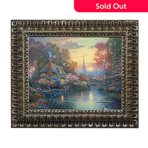 439-693 - Thomas Kinkade ''Nanette's Cottage'' Framed Textured Print