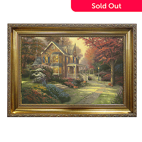 439-694 - Thomas Kinkade ''Victorian Autumn'' Framed Textured Print