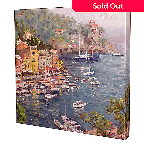 439-696 - Thomas Kinkade ''Portofino'' 14'' x 14'' Gallery Wrap