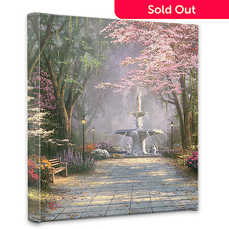 439-697 - Thomas Kinkade ''Savannah Romance'' 14'' x 14'' Gallery Wrap