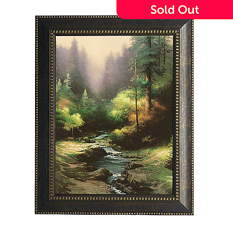 439-698 - Thomas Kinkade ''Creekside Trail'' Framed Textured Print