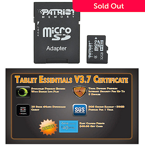 439-701 - Tablet Essentials Software & MicroSD Card
