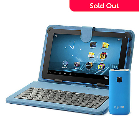 439-720 - D2 Pad™ 9'' Google Certified Wi-Fi Tablet w/ Keyboard Case & 4400mAh Portable Charger