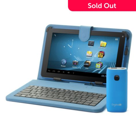 439-720 - D2 Pad™ 9'' Google Certified Wi-Fi Tablet w/ Keyboard Case