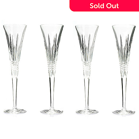 439-736 - Waterford® Crystal Lismore Diamond Set of Two 5 oz Toasting Flutes