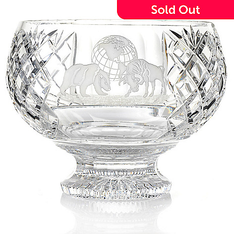 439-737 - House of Waterford Symbols of Achievement Bull & Bear 10.5'' Crystal Bowl